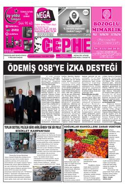 07.01.2015 Tarihli Cephe Gazetesi