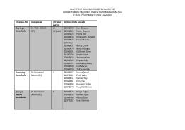 ECE402 Öğretmenlik Uygulaması II dersi okul listesi için tıklayınız