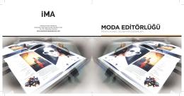 MODA EDİTÖRLÜĞÜ - İstanbul Moda Akademisi