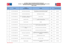 EK-1: 2014 yılı Yetişkin Eğitimi Alanında Stratejik Ortaklıklar ve
