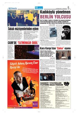 BERLİN YOLCUSU - gazete kadıköy