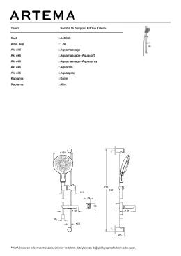Tanım Samba 5F Sürgülü El Duu Takımı Kod :A45655 Aırlık (kg