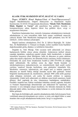 klasik türk musikisinin dünü, bugünü ve yarını-the past