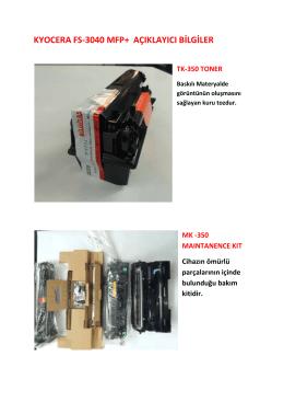 A4 FS 3040MFP Resimli Bilgi
