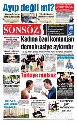 Ɠ - Sonsöz Gazetesi