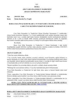 Bursa Ceza İnfaz Kurumları ve Tutukevleri 2. İzleme Kurulu