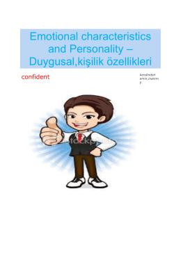 Duygusal,kişilik özellikleri