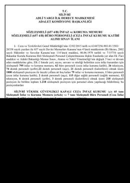 sözleşmeli büro personeli(ceza infaz kurumu katibi