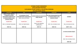 pazartesi salı çarşamba perşembe cuma istanbul ticaret üniversitesi