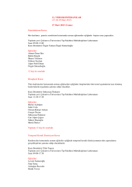 TC. Sağlık Bakanlığı bildirimleri için gerekli bilimsel programı