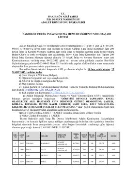 bakırköy erkek infaz koruma memuru öğrenci nihai başarı listesi