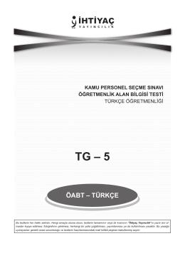 Türkçe 5 - İhtiyaç Yayıncılık