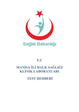 tc manġsa ġlġ halk sağlığı klġnġk laboratuarı test rehberġ