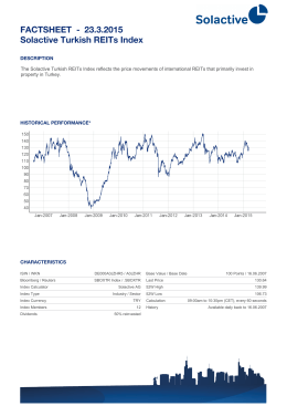 FACTSHEET - Solactive Turkish REITs Index 20.3.2015