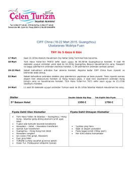 CIFF China (18-22 Mart 2015, Guangzhou) Uluslararası Mobilya Fuarı