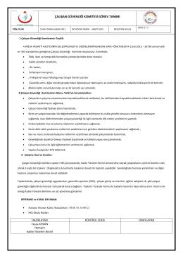 çalışan güvenliği komitesi görev tanımı