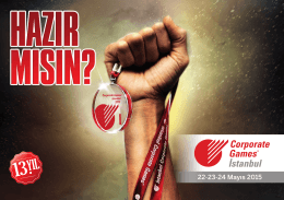 22-23-24 Mayıs 2015 - İstanbul Corporate Games