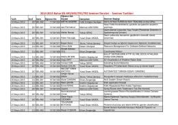2014-2015 Bahar BİL 691/692/791/792 Seminer Dersleri