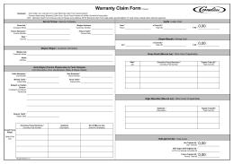 Warranty Claim Form (Türkçe)