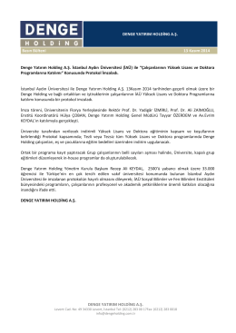 Denge Yatırım Holding A.Ş. İstanbul Aydın Üniversitesi (İAÜ)