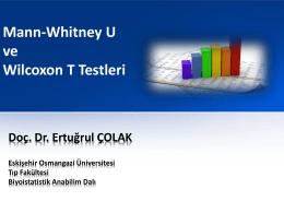 Mann-Whitney U Testi - anadolu üniversitesi eczacılık fakültesi