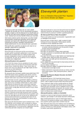 Ebeveynlik planları - Family Relationships Online
