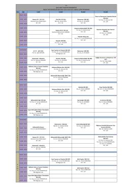 İnşaat Mühendisliği Bölümü Ders Programı