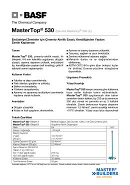 MasterTop® 530 (Eski Adı Mastertop® 530 LE) Endüstriyel