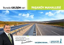 PAŞAKÖY MAHALLESİ - Sancaktepe Belediyesi