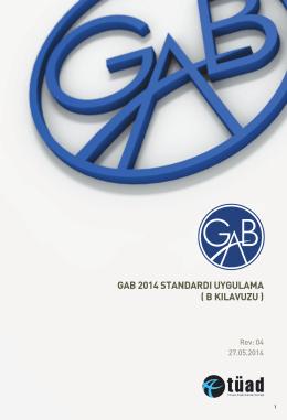 GAB 2014 STANDARDI UYGULAMA ( B KILAVUZU )