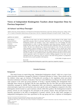 Views of Independent Kindergarten Teachers about Inspection
