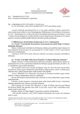 Uluslararası Sözleşmelerin Uygulanması (21.02.2014