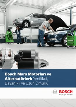 Bosch marş motorları ve alternatörleri