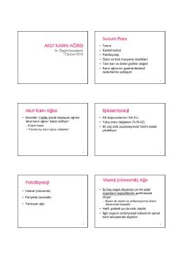 • Tanım • Epidemiyoloji • Patofizyoloji • Öykü ve fizik muayene