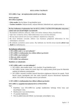 Sayfa 1 / 9 KULLANMA TALĐMATI OCLADRA 2 mg / ml