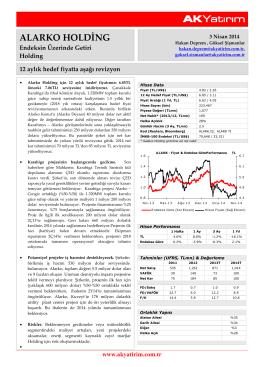 Ak Yatırım Alarko Holding Şirket Raporu
