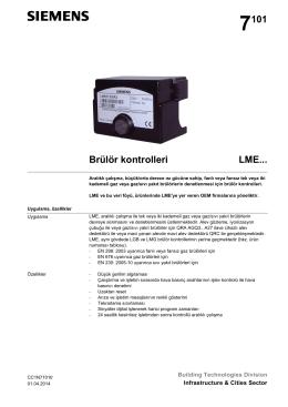 7101 Brülör kontrolleri LME