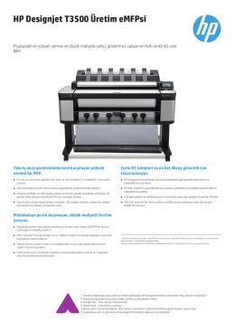 HP Designjet T3500 Üretim eMFPsi
