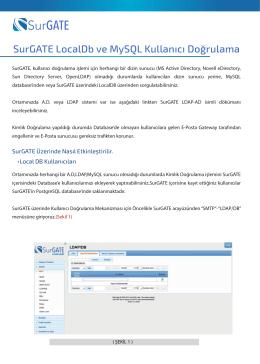 SurGATE LocalDb ve MySQL Kullanıcı Doğrulama