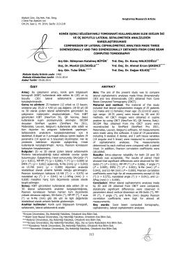 8. Mevlüt Çelikoğlu (+) - Diş Hekimliği Fakültesi Dergisi