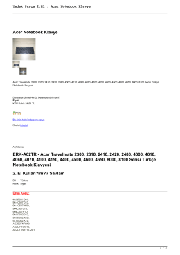 Yedek Parça 2.El : Acer Notebook Klavye