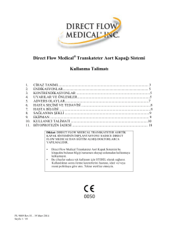 Direct Flow Medical Transkateter Aort Kapağı Sistemi Kullanma