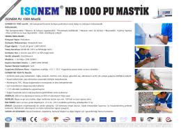 nb 1000 pu mastik ısonem - ISONEM Yapı Kimyasalları