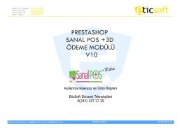 kullanım kılavuzu - Ücretsiz Prestashop Sanal Pos Modülü