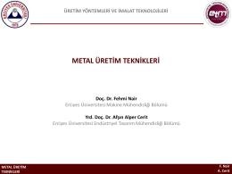 metal üretim teknikleri