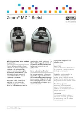Zebra® MZ™ Serisi