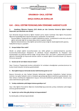 Erasmus+ Okul Eğitimi Bireylerin Öğrenme Hareketliliği (KA1)