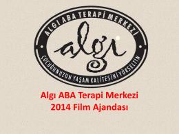 2014 Film Ajandası - Algı ABA Terapi Merkezi
