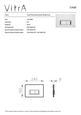 Tanım Loop R Kumanda Paneli-Parlak Krom Kod :740-0680