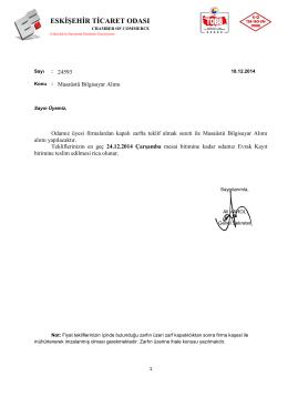 ETO2014-011 - Eskişehir Ticaret Odası